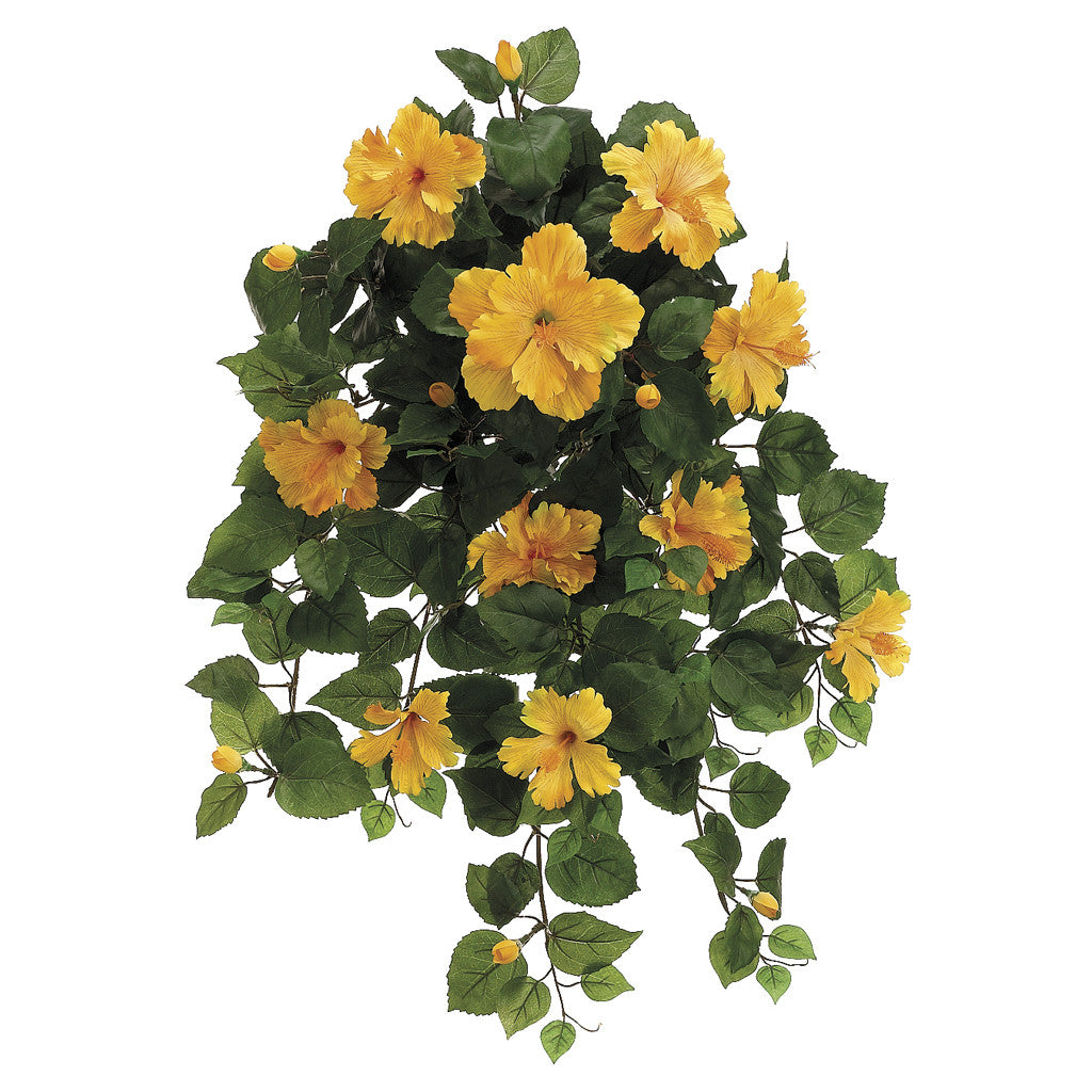 "Artificial 22"" Hibiscus Trailing Bush - House of Silk Flowers®  - 3"
