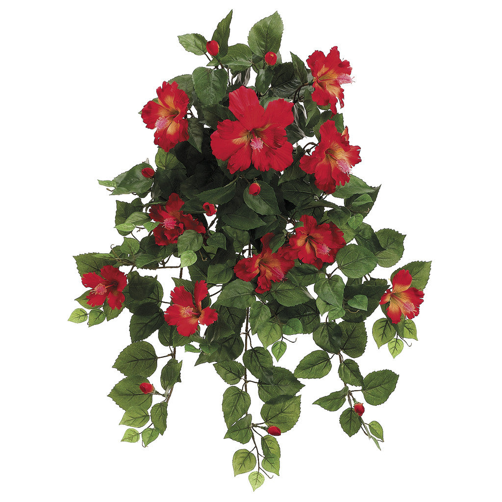 "Artificial 22"" Hibiscus Trailing Bush - House of Silk Flowers®  - 2"