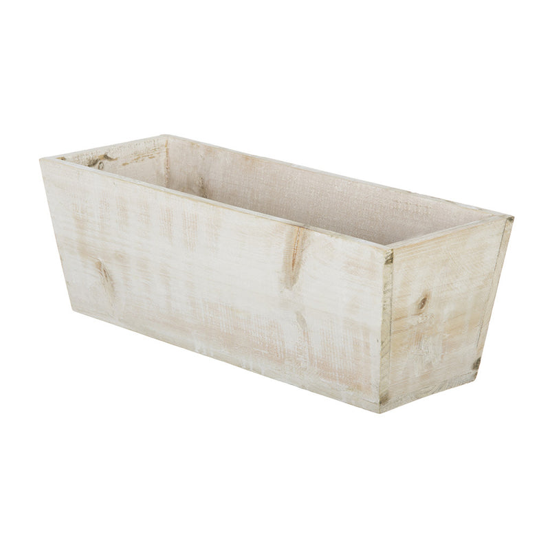 "Washed Wood Shelf Vase - 16"" x 6"" x 5.5"" (Set of 2)"