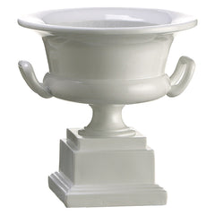 "White 7"" Polyresin Urn - House of Silk Flowers®"