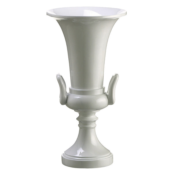 "White 14.75"" Polyresin Urn"