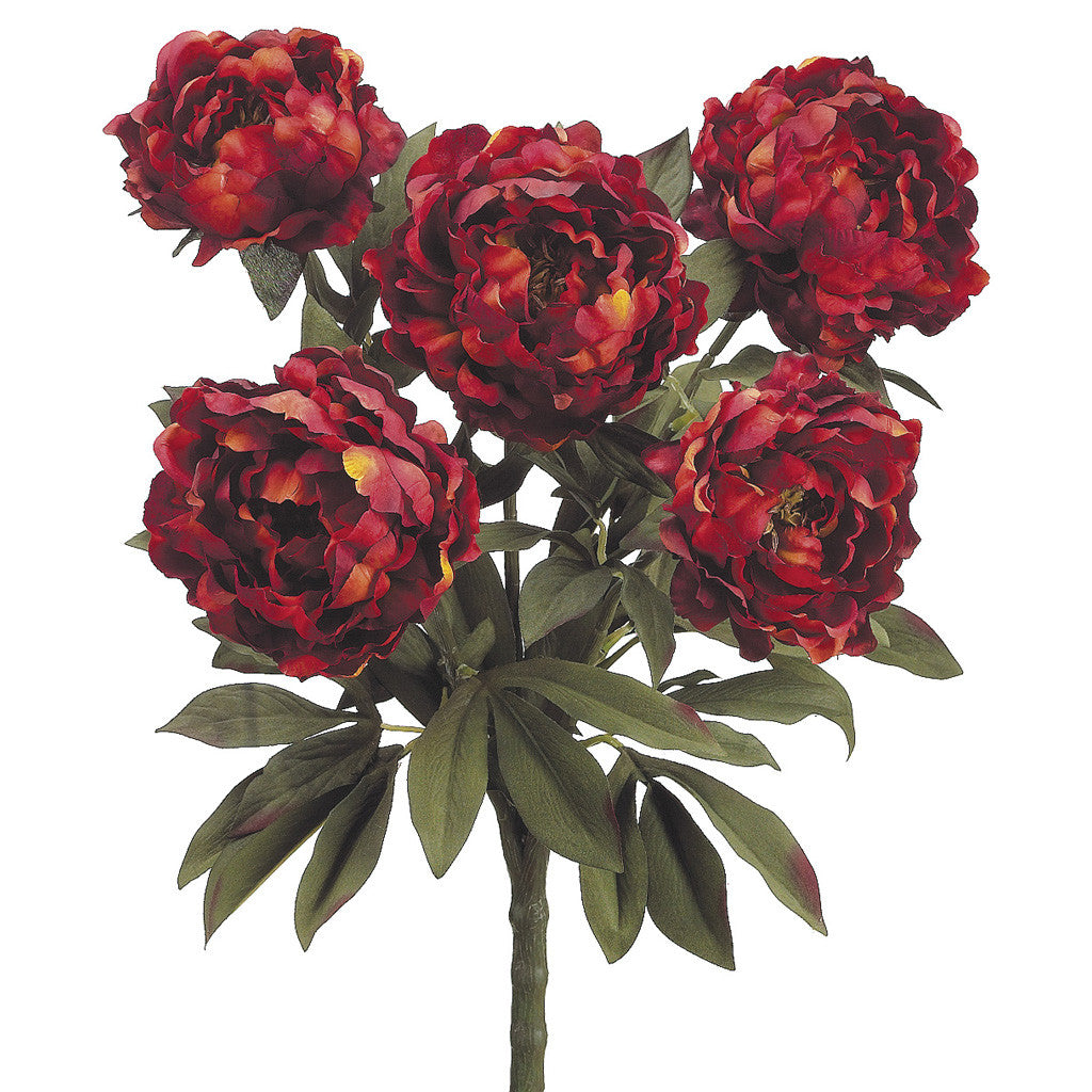 "Artificial 21.5"" Peony Bush - House of Silk Flowers®  - 2"