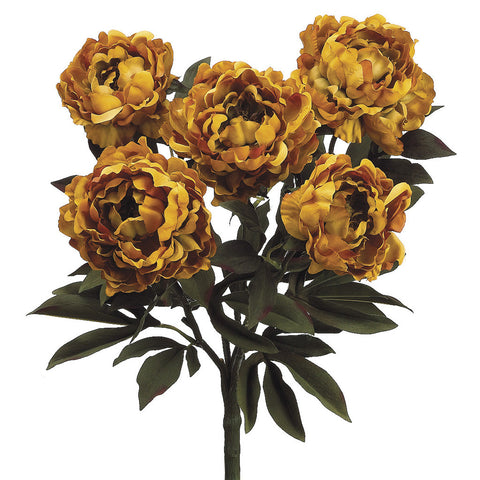 Artificial 21-1/2 inch Peony Bush (Set of 2)