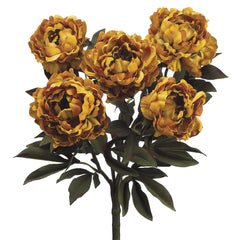 "Artificial 21.5"" Peony Bush - House of Silk Flowers®  - 3"