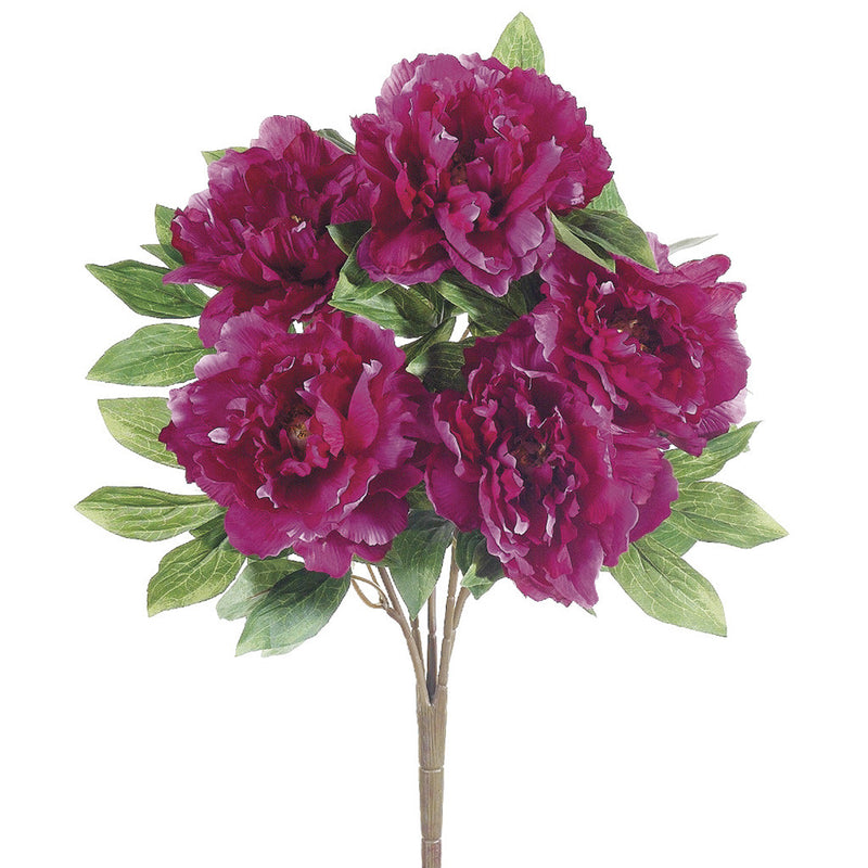 "Artificial 19"" Peony Bush - House of Silk Flowers®  - 1"