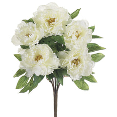 "Artificial 19"" Peony Bush - House of Silk Flowers®  - 2"