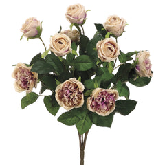 "Artificial 16"" Cabbage Rose Bush - House of Silk Flowers®  - 2"