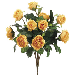 "Artificial 16"" Cabbage Rose Bush - House of Silk Flowers®  - 4"