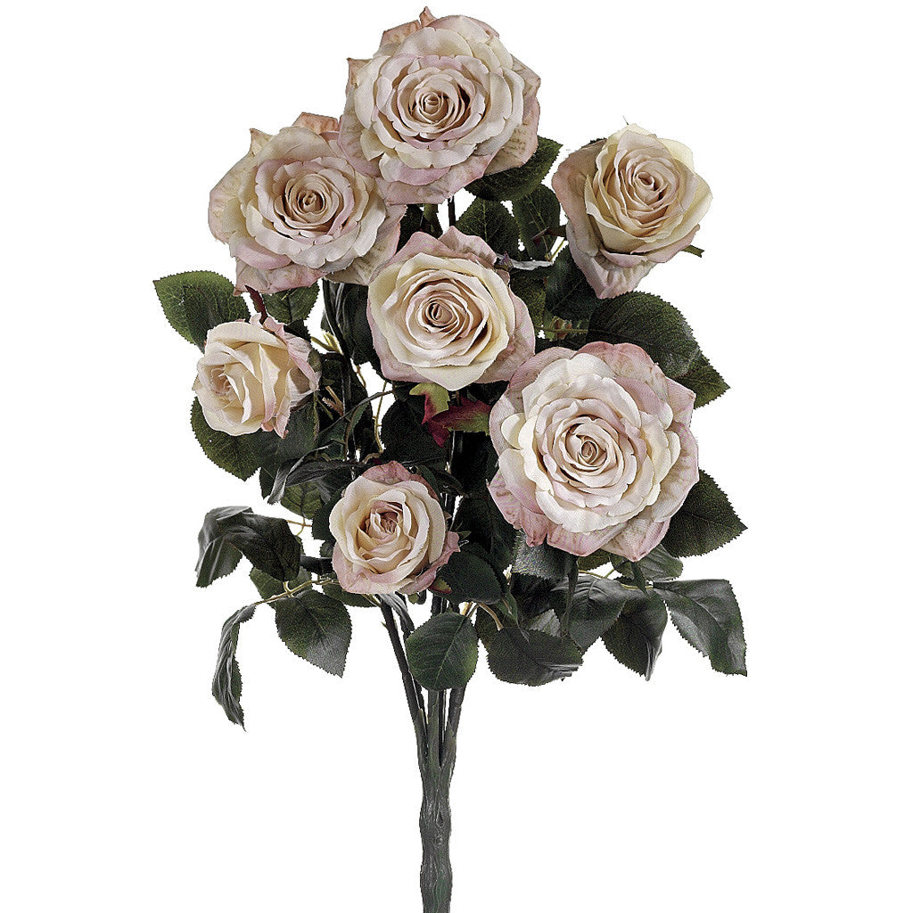 "Artificial 21.5"" Rose Bush - House of Silk Flowers®  - 1"