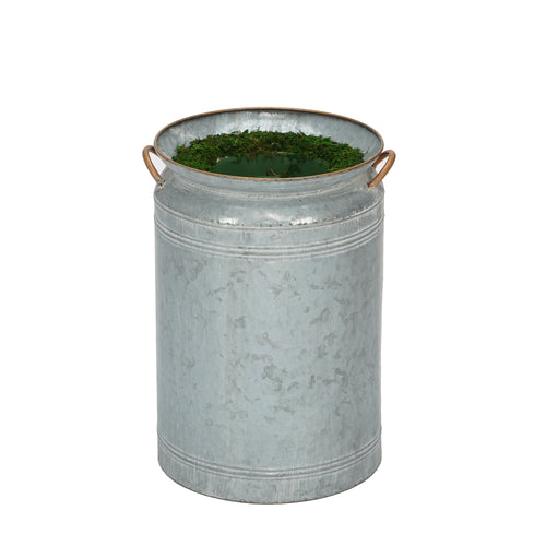 Large Milk Jug Metal Planter Pot-in-a-Pot