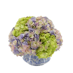 Shabby Chic® Lavender and Green Hydrangea in Blue/White Toile Ceramic