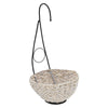 White Washed water Hyacinth hanging basket House of Silk Flowers ®