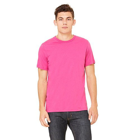 Bella + Canvas Unisex Jersey Short-Sleeve T-Shirt in Soft Pink