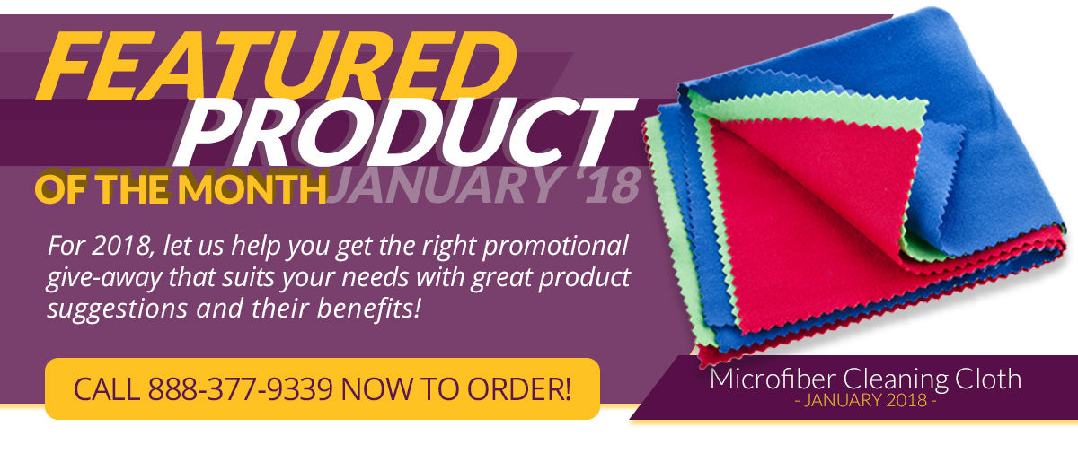 Featured product of the month - Microfiber Cleaning Cloth.