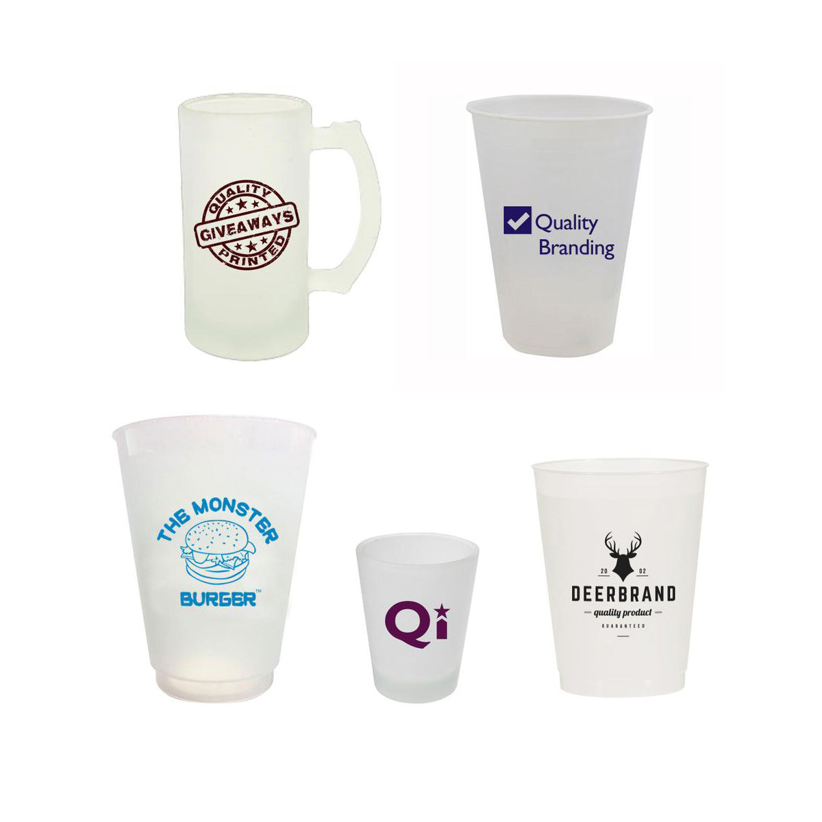 Custom Frosted Glasses