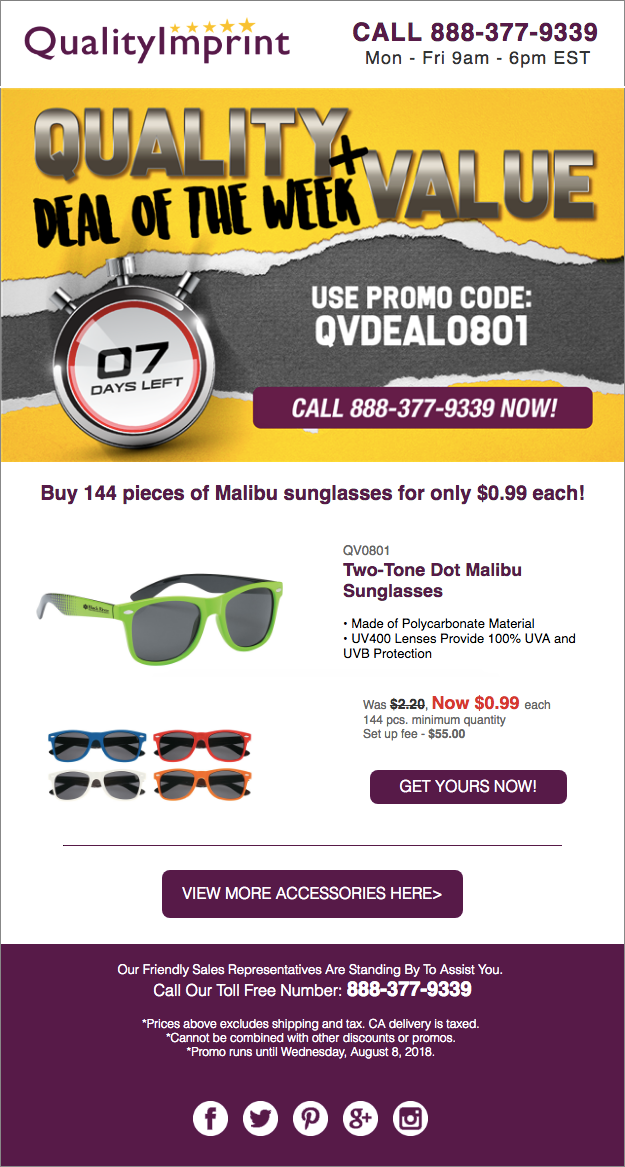 Get summer ready style plus UV protection for less than dollar!