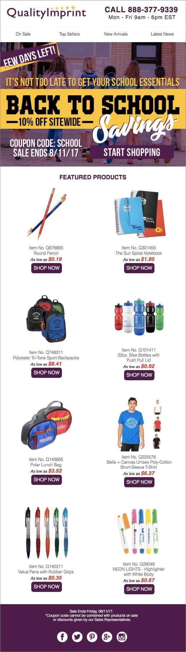 Back To School Savings Ends Friday