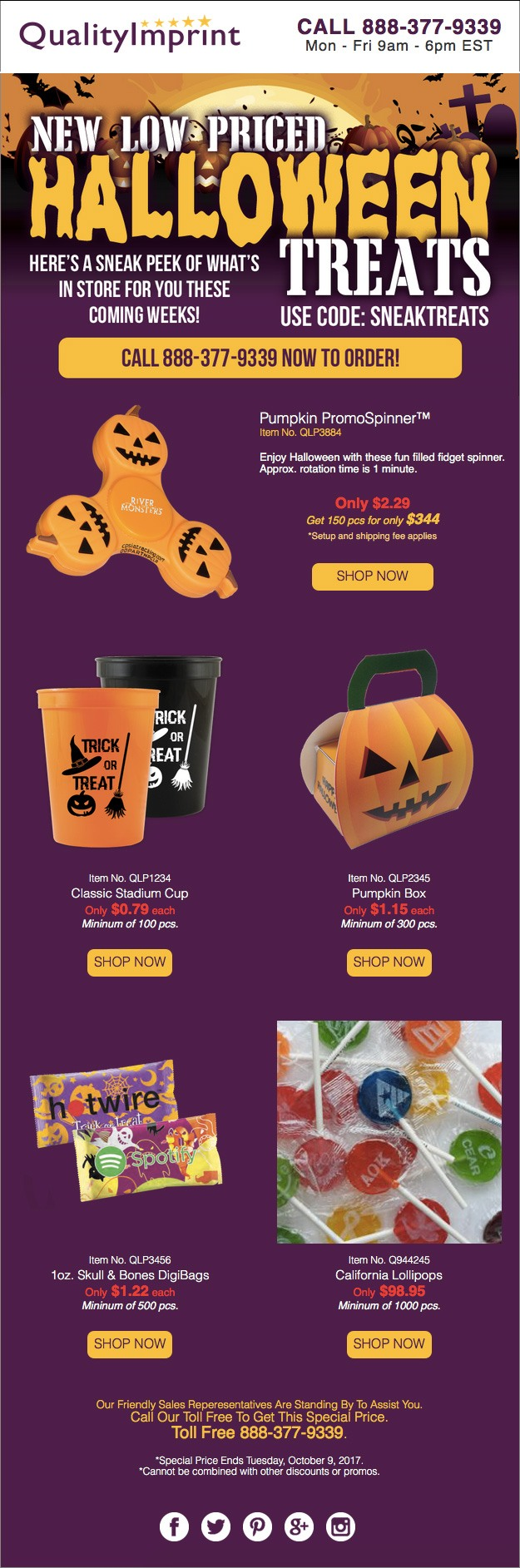 Halloween 2017 - New Low Priced Halloween Treats!
