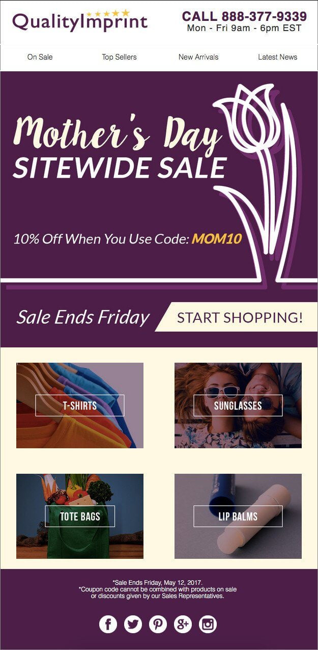 ENJOY SAVINGS WITH OUR MOTHER'S DAY SALE