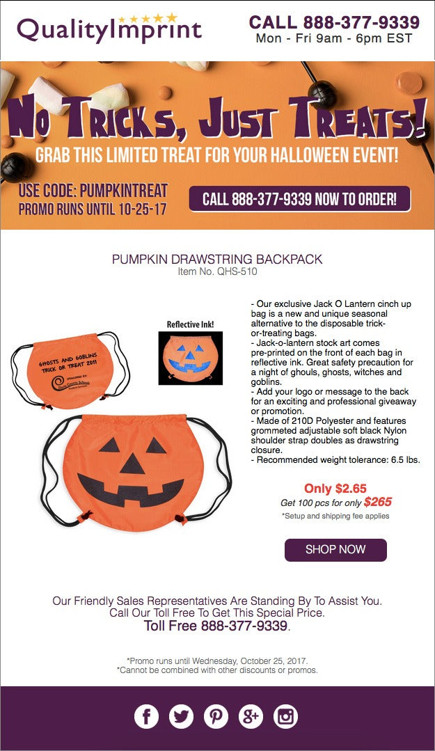 Our Pumpkin Drawstring, a perfect treat!