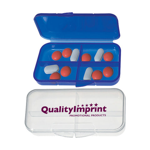 4 Compartment Rectangular Shaped Pill Holders (Q105411)