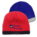 Knitted Beanie With Fleece Ear Lining  with Logo (Q125245)