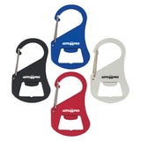 Metal Carabiner Bottle Openers  Imprinted with Logo (Q183411)