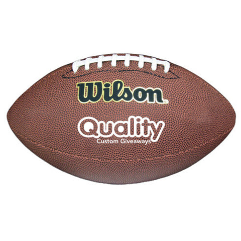 Personalized Wilson Premium Composite Leather Football (Q221255) -  - 1