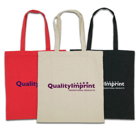 Logoed Colored Cotton Tote (Q221765) -  - 1