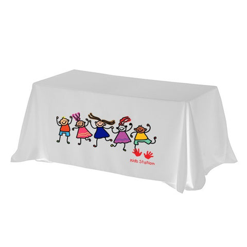 3-Sided Economy 8 ft Table Cover (PhotoImage 4 Color) (Q222611)