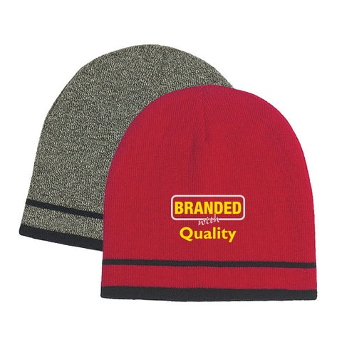 a77335909b13 Knit Beanie With Double Stripe - Beanies with Logo - Q247476