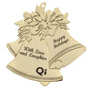 Imprinted Gold Bell Ornament (Q26347) -  - 1
