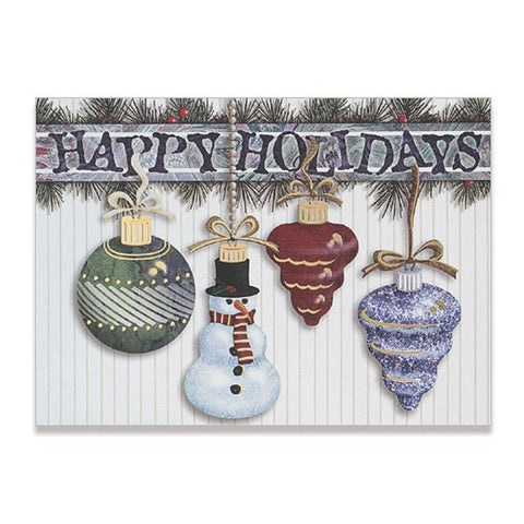 "5"" x 7"" Hanging Ornaments with Snowman Classic Cards (Q302711)"