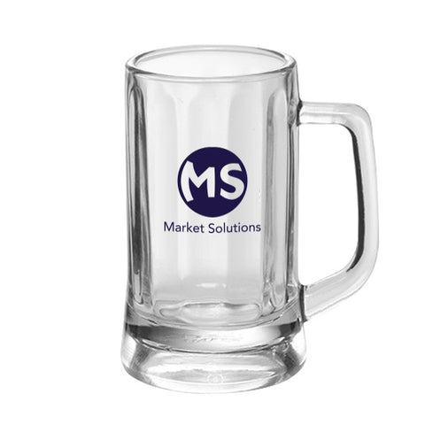 11.3 Oz. Optic Glass Beer Mugs (Q308711)