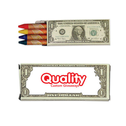 4 Pack Money Wax Crayons (Q318411)