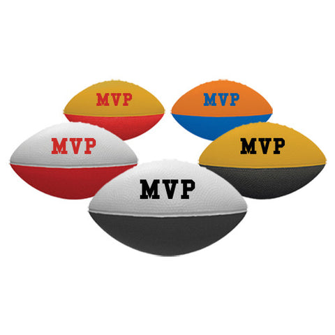 "Personalized 7"" Two-Toned Foam Footballs (Q320311) -  - 1"