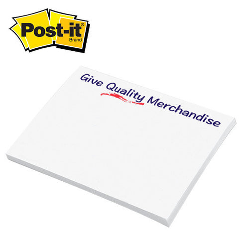 "Post-itå¨ Custom Printed Notes (3"" x 4"") (Q33394) -  - 1"