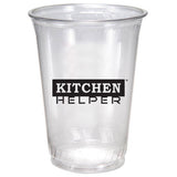 Clear Plastic Cup (10 oz)  Imprinted with Logo (Q34537)