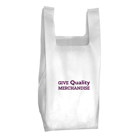 "40GSM Non-Woven Everyday Grocery Shopping Tote Bag (12"" W x 22.5"" H) (Q37165)"