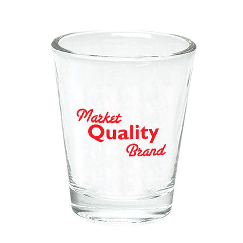 Logoed Clear Shot Glass (1.5 oz) (Q3794) -  - 1