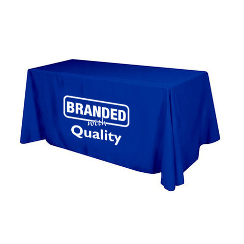 Custom Flat 3-sided Table Cover (6 ft) (Q38248) -  - 1