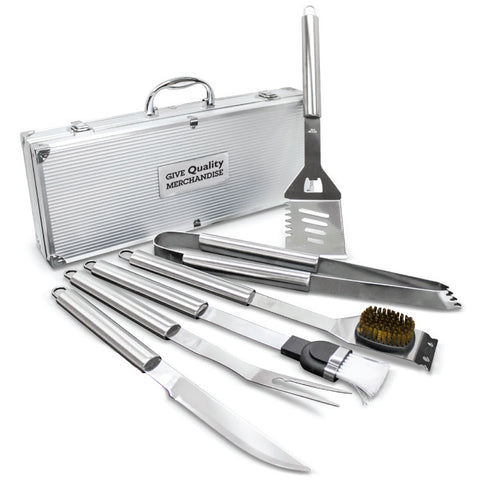 Personalized Deluxw BBQ Tool Set (6-piece) (Q38571) -  - 1