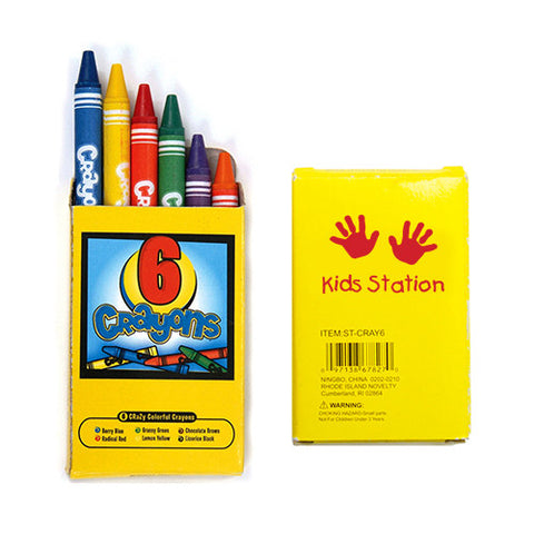Personalized 6 Pack Crayons (Q387265) -  - 1