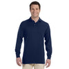 Promotional Jerzees 5.6 oz.  50/50 Long-Sleeve Jersey Polo with SpotShield™ (Q40755) -  - 2