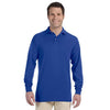 Promotional Jerzees 5.6 oz.  50/50 Long-Sleeve Jersey Polo with SpotShield™ (Q40755) -  - 3