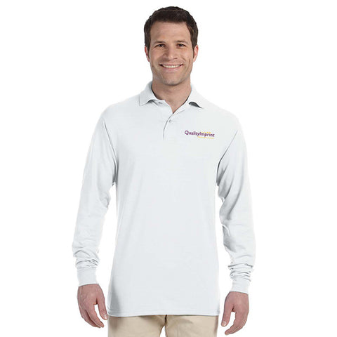 Jerzees 5.6 oz.  50/50 Long-Sleeve Jersey Polo with SpotShield™ (Q40755)