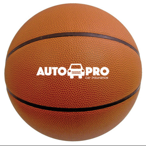 "Imprinted Full Size Synthetic Leather Basketball (29.5"" circumference) (Q421255) -  - 1"