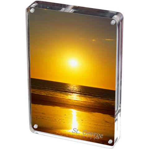 "Imprinted Two -Sided Acrylic Photo Frame (5"" x 7"") (Q424245) -  - 1"