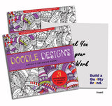 Doodle Designs Artist's Coloring Book  Imprinted with Logo (Q431311)