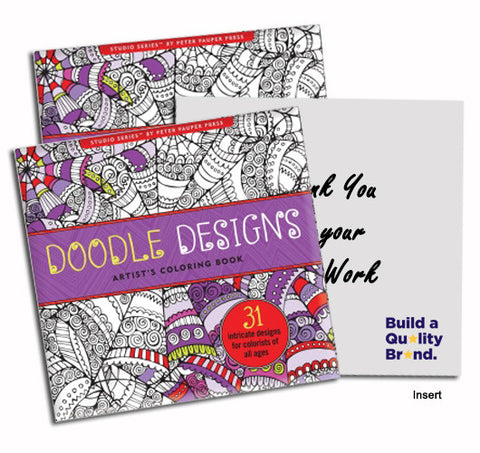 Doodle Designs Artist\'s Coloring Book - Promotional Adult Coloring ...